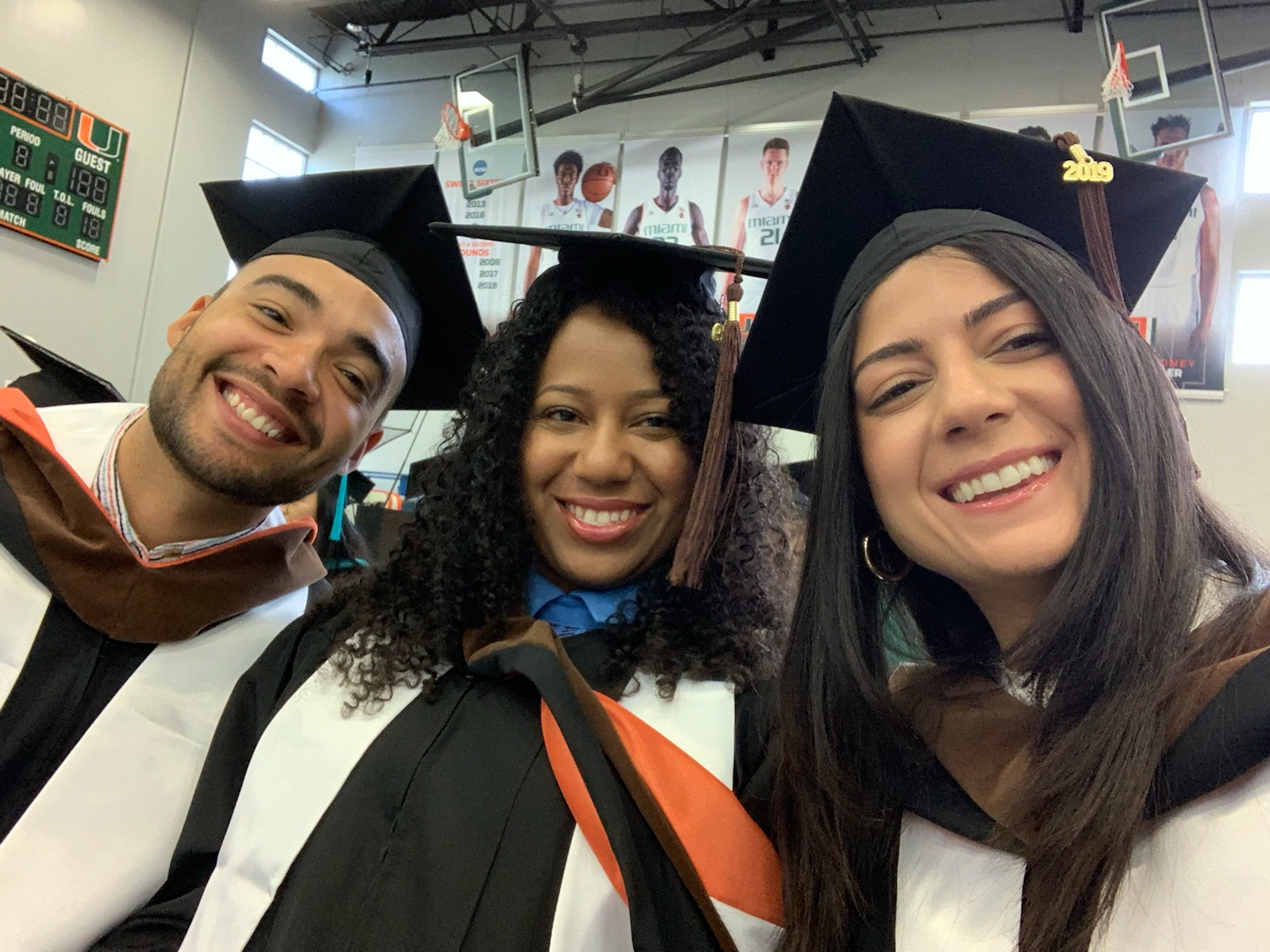 Three MFA graduates